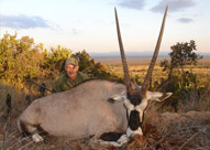 Plains game hunting in South Africa